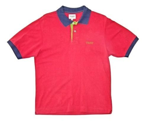 true vintage benetton polo tshirt size S-M