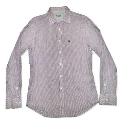 true oldskool vintage stripe benetton shirt size M