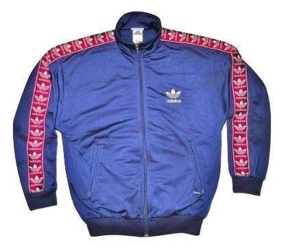 truly oldskool adidas retro spellout track top uk S-M