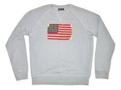 true vintage ralph lauren sweatshirt blue size M-L