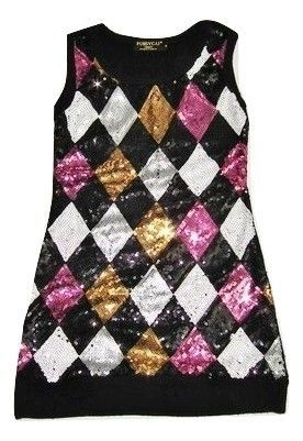 glitter sleeveless jumper dress size 8-10