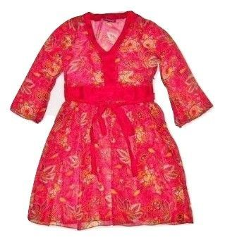 womens vintage chiffon dress red size 12