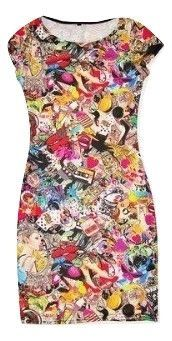 womens retro print figa dress size 8