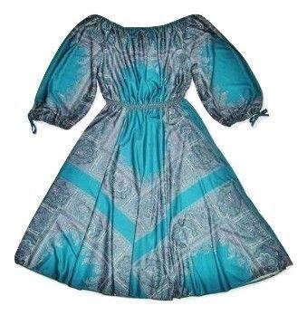 70's true vintage flared disco dress size 16