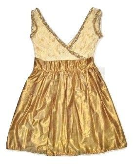 womens true vintage gold retro tea dress size 8