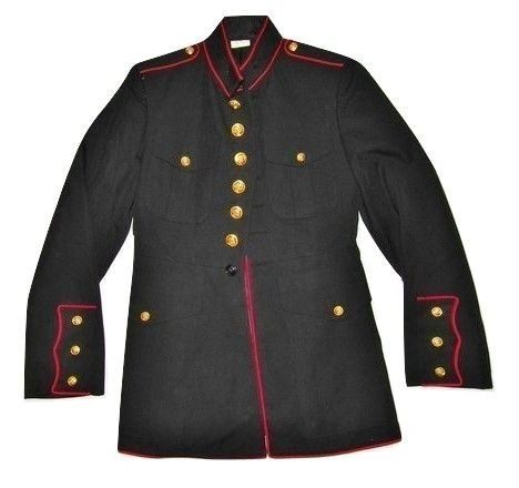 true vintage army dress uniform jacket size small