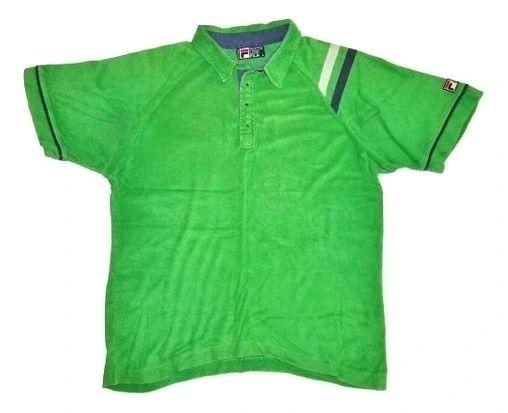 Fila casuals 1998 velour polo shirt UK L-XL
