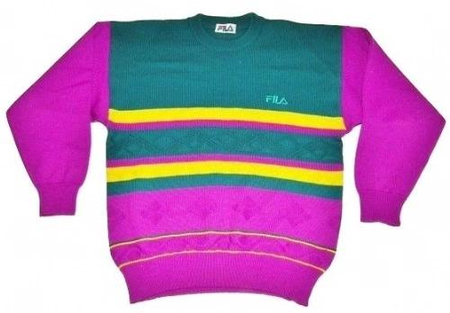 classic 80' fila jumper size large