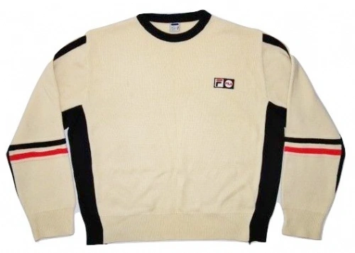 true vintage wool sweater, fila size uk XL