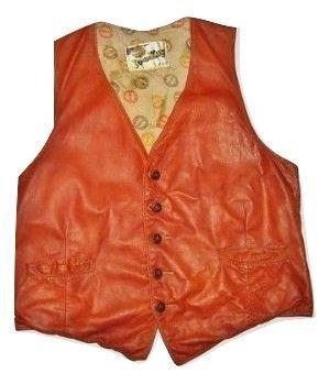 true vintage brown leather waistcoat original jo.okay size M-L