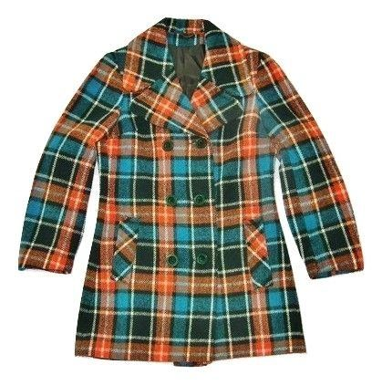 womens true vintage wool double breast coat size uk small