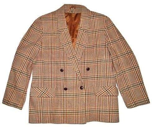 womens true vintage tweed check blazer size 14-16