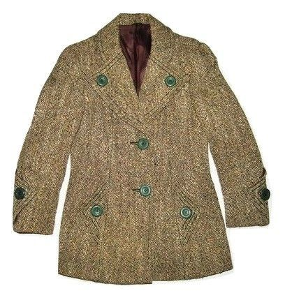 womens true vintage tweed coat size S-M