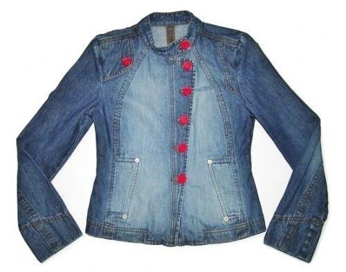 womens retro denim jacket size small