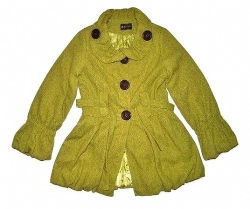 top quality retro green ruffle jacket size 10-12