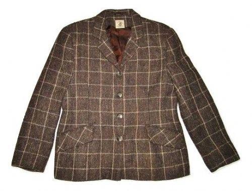 womans true vintage tweed suit blazer size 14