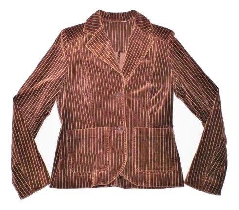 womans retro suede velvet blazer suit jacket size 12