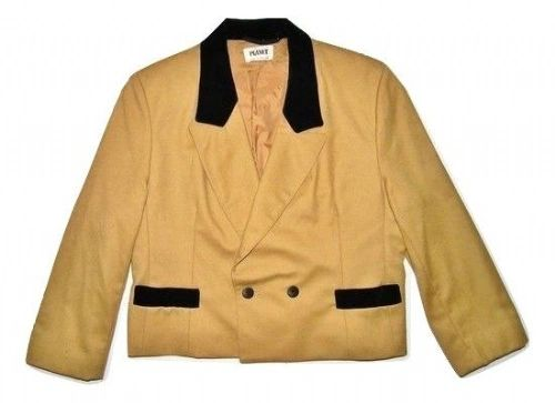 true oldskool retro cropped suit jacket size 14