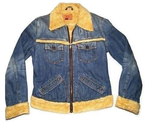 1989 true vintage original levis trucker denim jacket UK S-M