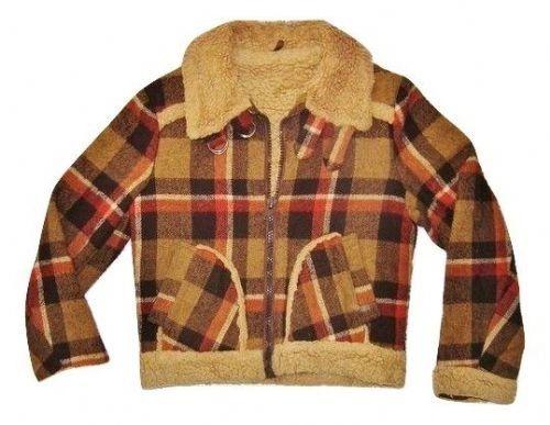 womens oldskool true vintage checked wool jacket size S
