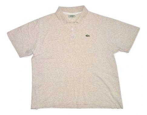 true vintage lacoste sport polo tshirt size xlarge