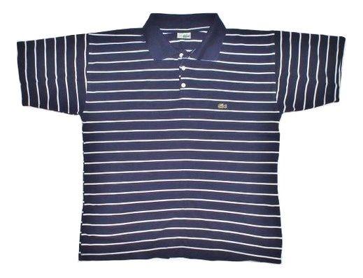vintage stripe lacoste polo tshirt size S-M