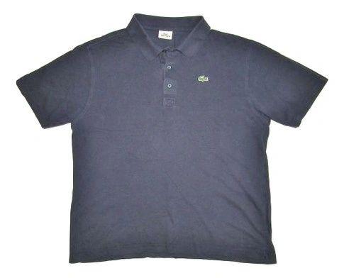 mens vintage lacoste sport navy polo shirt size L-XL