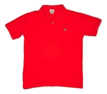 vintage lacoste tshirt red size medium