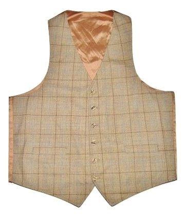 mens vintage waistcoat gillet size L-XL