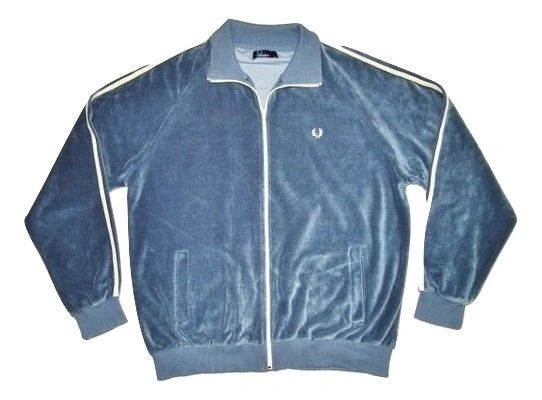 very rare vintage fred perry velour jacket size UK large