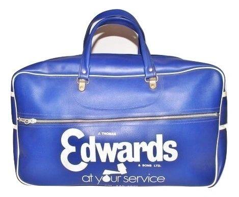 1980's original rare blue edwards sports holdall