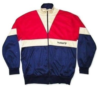 mens true vintage hummel tracksuit top, early 80's very rare size L-XL