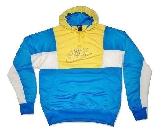 original 80's nike hoodie tracksuit top size XL