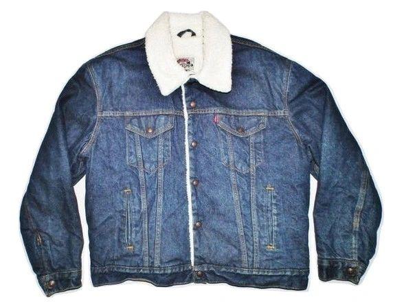 true oldskool vintage levis denim jacket size XL