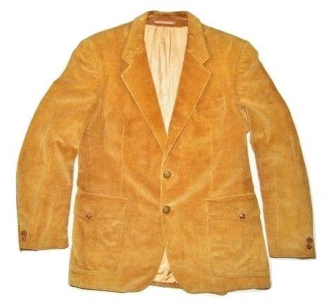 True vintage harrods cord blazer suit jacket 43R M
