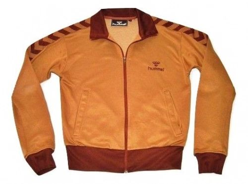 true vintage hummel tracksuit top brown rare size S/M early 90's
