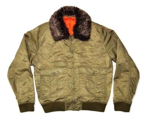 true vintage original flying jacket uk size M-L fur collar