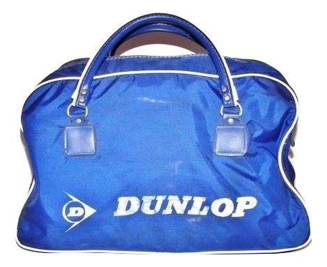 1980's true vintage dunlop blue carry holdall