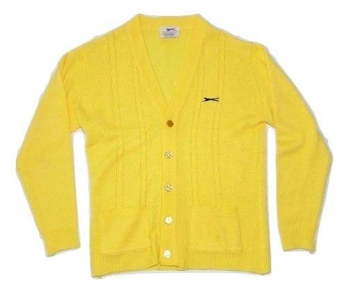 womens very rare true vintage slazenger knitted cardigan, size uk S-M