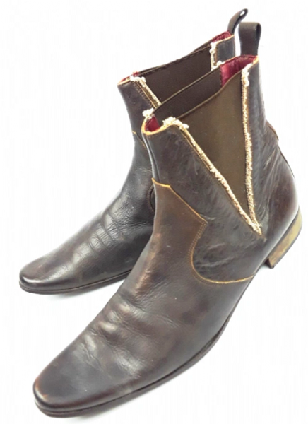 mens true vintage leather ankle boots UK 11