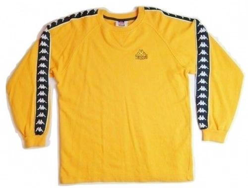 90's rare kappa jumper yellow size medium