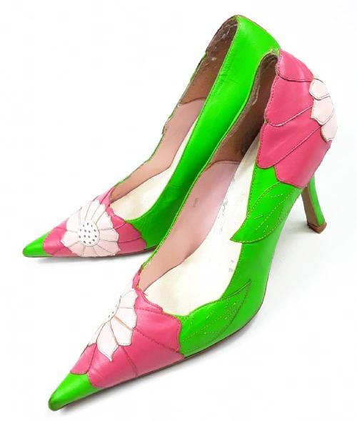 womens vintage leather stilettos size uk 7