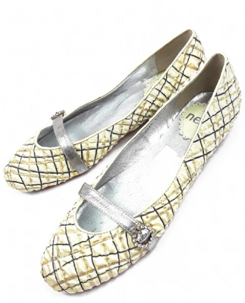 quality silk shoes by neet silver cream size uk 5