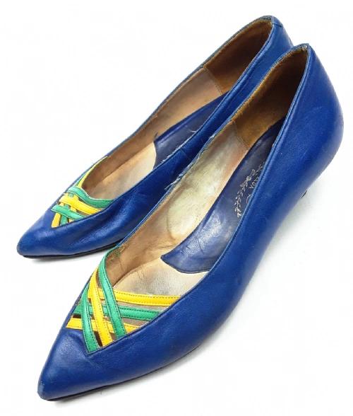 womens true vintage retro flat shoes, size uk 5