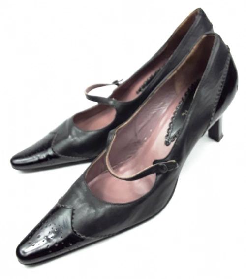 womens retro 50s style strap shoes size uk 5 leather eu 38