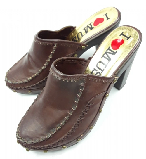 womens quality mustang cloggs retro style uk size 6