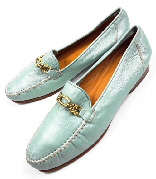 vintage roland cartier slip on quality leather shoes size uk 5.5