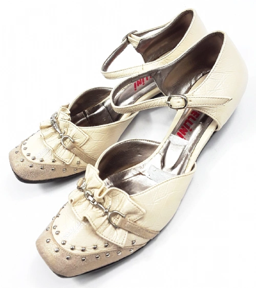 womens vintage retro flat dolly shoes leather size uk 5 bellini