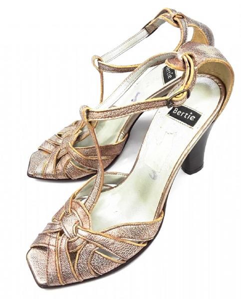 womens vintage bertie peeptoe tbar heel shoes size uk6