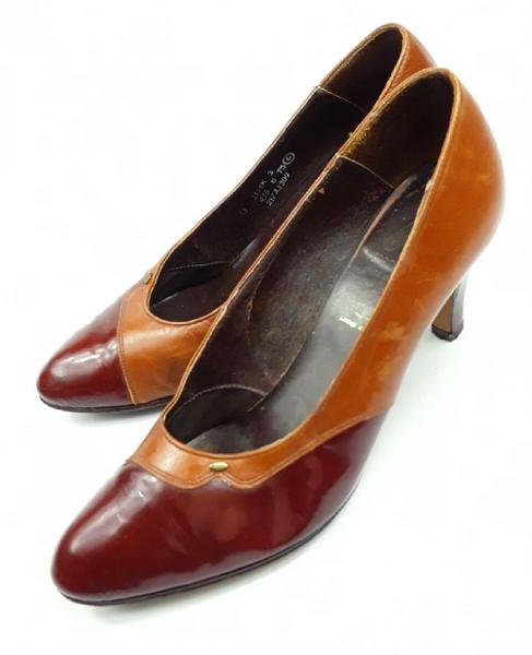 womens true vintage high heels, size uk 6 C&A 1980s